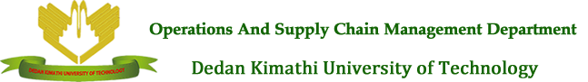 Operations and Supply Chain Management Department